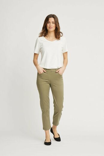 Hannah Regular Housut, 28362 khaki